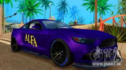 Ford Mustang GT Liberty Walk 2015 Purple für GTA San Andreas