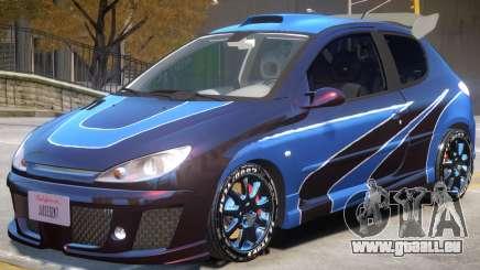Peugeot 206 Tuning V1 PJ2 pour GTA 4