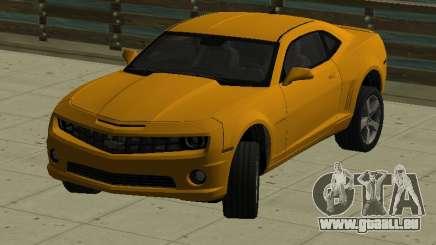 Chevrolet Camaro SS 2010 Yellow pour GTA San Andreas