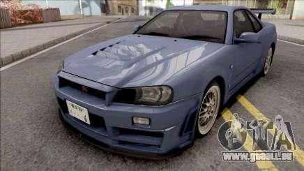 Nissan Skyline GT-R R34 2000 Omori Factory S1 v2 pour GTA San Andreas