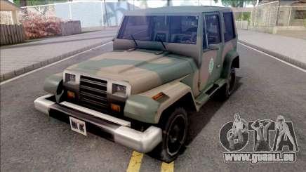 Mesa Jeep Vesao Exercito Brasileiro pour GTA San Andreas
