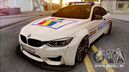 BMW M4 2018 Widebody Politia Romana pour GTA San Andreas