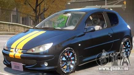 Peugeot 206 Tuning V1 PJ1 pour GTA 4