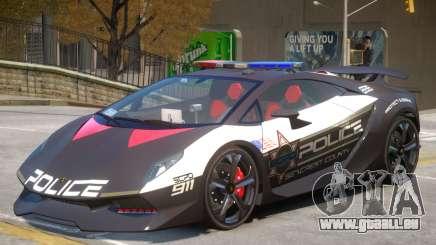 Lamborghini Sesto Police V1.1 pour GTA 4