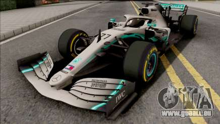 Mercedes-AMG F1 W10 2019 (C3 Tyres Yellow) pour GTA San Andreas