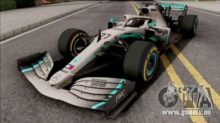 Mercedes-AMG F1 W10 2019 (C3 Tyres Yellow) für GTA San Andreas