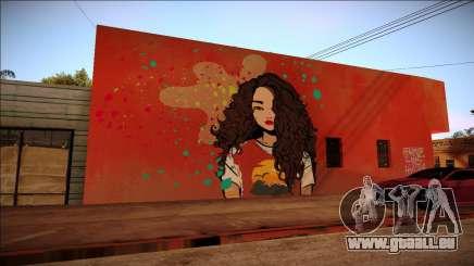 Graffiti-eine Brünette für GTA San Andreas