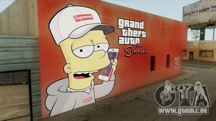 Bart Simpson Mural (GTA The Simpsons) für GTA San Andreas