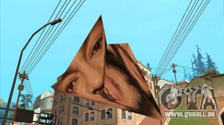 Philippe sous la forme d'une pyramide-origami pour GTA San Andreas