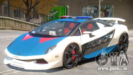 Lamborghini Sesto Police V1.4 pour GTA 4