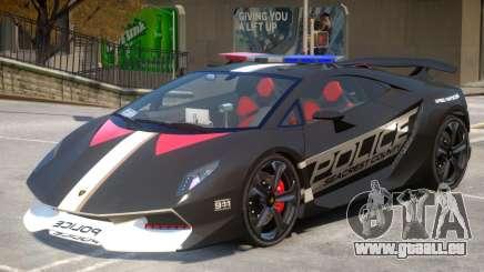 Lamborghini Sesto Police V1.3 pour GTA 4