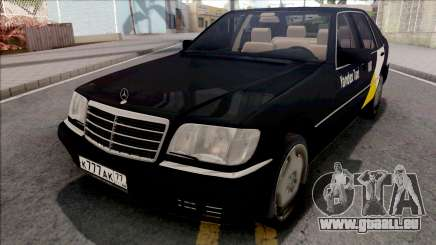 Mercedes-Benz S600L W140 Yandex Taxi Black pour GTA San Andreas