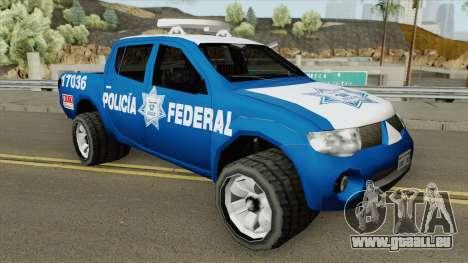 Mitsubishi L200 (De La Policia Federal Mexicana) für GTA San Andreas
