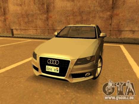 Audi A4 2.0 TFSI 2010 pour GTA San Andreas