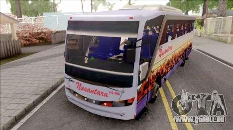 Nusantara Bus Setra Adi Putro Smile Lamp pour GTA San Andreas