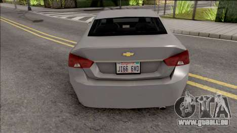 Chevrolet Impala 2018 Grey pour GTA San Andreas