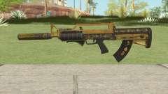 Bullpup Rifle (Three Upgrade V7) Main Tint GTA V pour GTA San Andreas