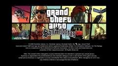 Les écrans de chargement en HD pour GTA San Andreas