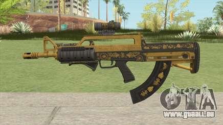 Bullpup Rifle (Three Upgrade V2) Main Tint GTA V für GTA San Andreas