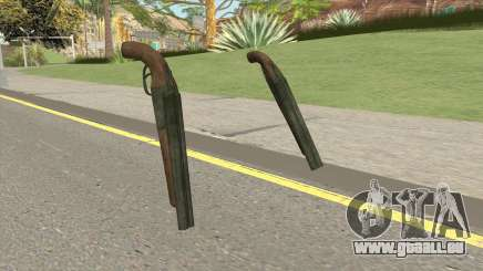 Double Barrel Shotgun GTA V (Green) für GTA San Andreas