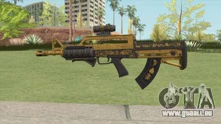Bullpup Rifle (Three Upgrade V1) Main Tint GTA V für GTA San Andreas