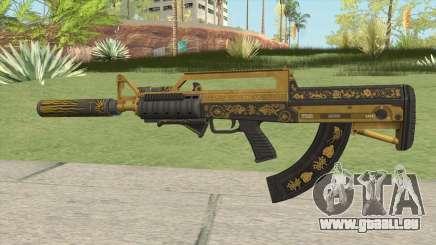 Bullpup Rifle (Three Upgrade V8) Main Tint GTA V für GTA San Andreas