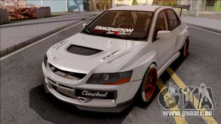 Mitsubishi Lancer Evolution IX Clinched für GTA San Andreas