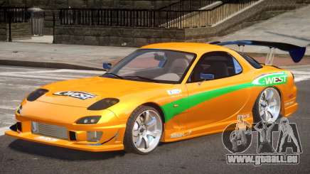 Mazda RX-7 Custom V1.0 PJ pour GTA 4