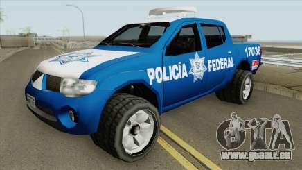 Mitsubishi L200 (De La Policia Federal Mexicana) pour GTA San Andreas