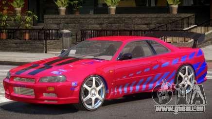 Skyline GT-R34 V1 PJ pour GTA 4