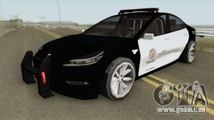 Tesla Model 3 LSPD (Low Poly) 2017 pour GTA San Andreas