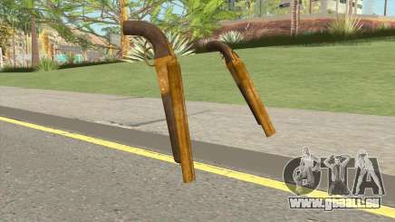 Double Barrel Shotgun GTA V (Gold) für GTA San Andreas