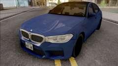 BMW M5 F90 2018 Blue pour GTA San Andreas