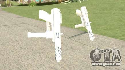 Tec-9 (White) für GTA San Andreas