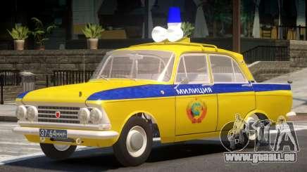Moscvich 408 Police pour GTA 4