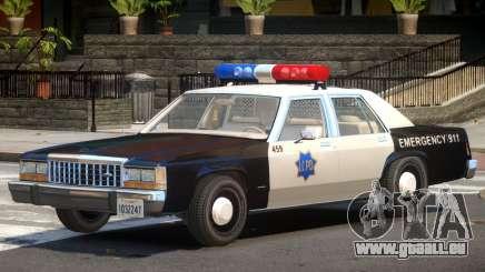 1987 Ford Crown Victoria Police V1.0 pour GTA 4
