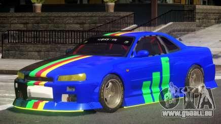 Nissan Skyline GT R34 V1.1 für GTA 4