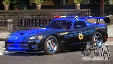 Dodge Viper SRT Police V1.0 pour GTA 4