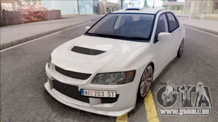 Mitsubishi Lancer Evolution VIII White für GTA San Andreas