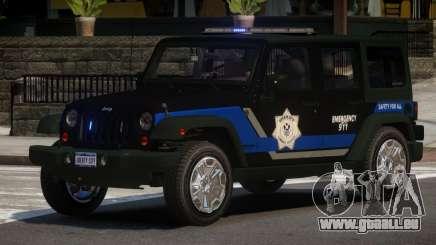 Jeep Wrangler Police V1.0 pour GTA 4