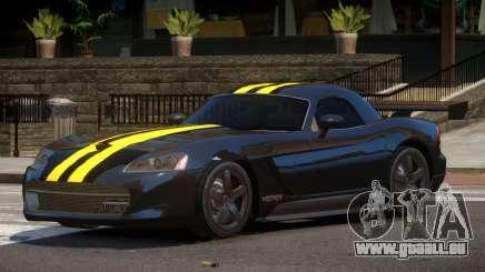 Dodge Viper RT Gold Strip pour GTA 4