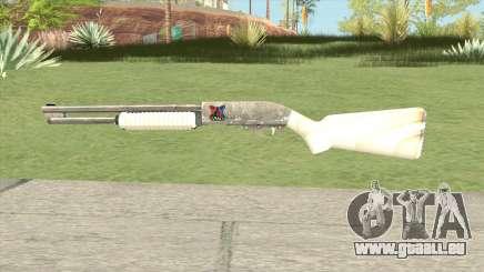 Pump Shotgun (White) pour GTA San Andreas