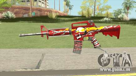 M4A1 (Flaming Skull) pour GTA San Andreas