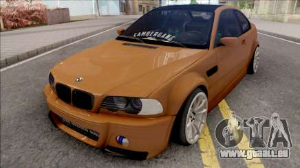 BMW 3-er E46 2000 Stance by Hazzard Garage v2 für GTA San Andreas