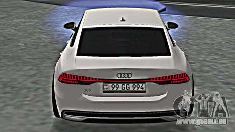 Audi A7 2020 Armenia pour GTA San Andreas