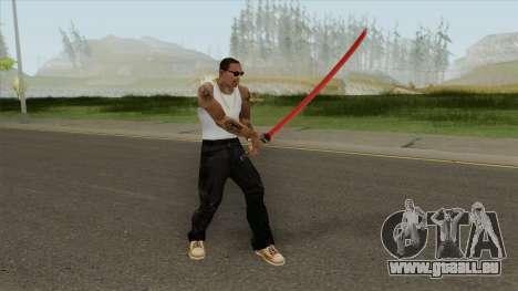 Red Katana (HQ) pour GTA San Andreas