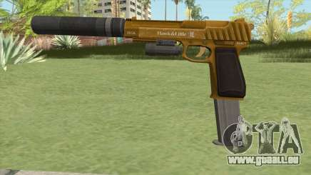 Pistol .50 GTA V (Gold) Full Attachments pour GTA San Andreas