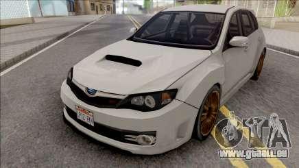 Subaru Impreza WRX STi 2008 White pour GTA San Andreas