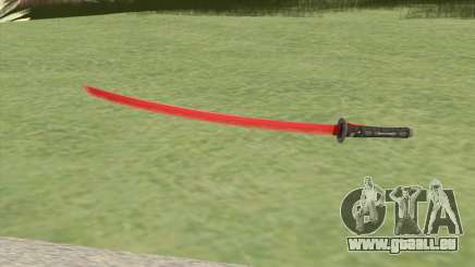 Red Katana (HQ) für GTA San Andreas