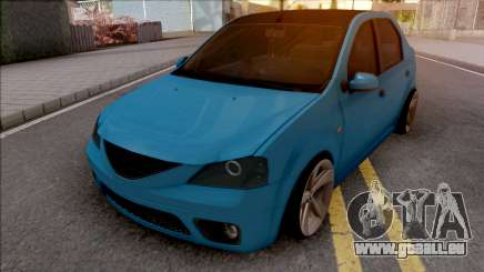 Dacia Logan Tuning Blue pour GTA San Andreas